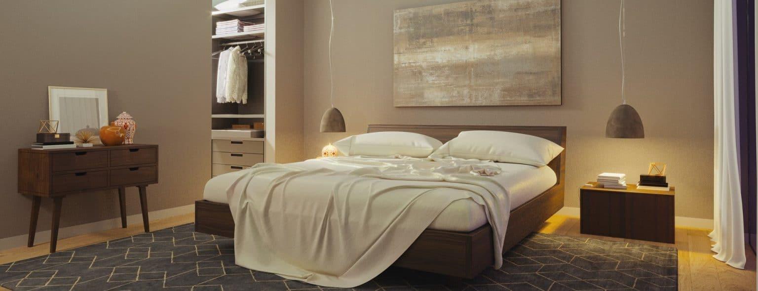 Bedroom of bed bugs